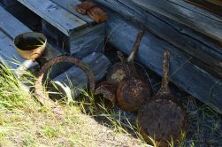 Old rust pots and pans